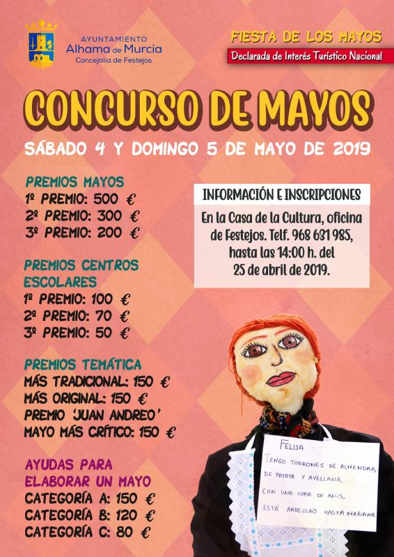 Abiertas las plazas para el concurso de plantada de Mayos