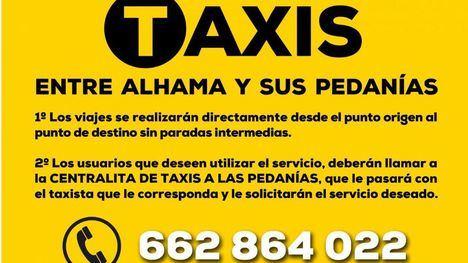 VÍDEO El servicio de taxis y pedanías sigue en funcionamiento