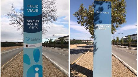 FOT. Turismo renueva los vinilos de los tótem turísticos de Alhama
