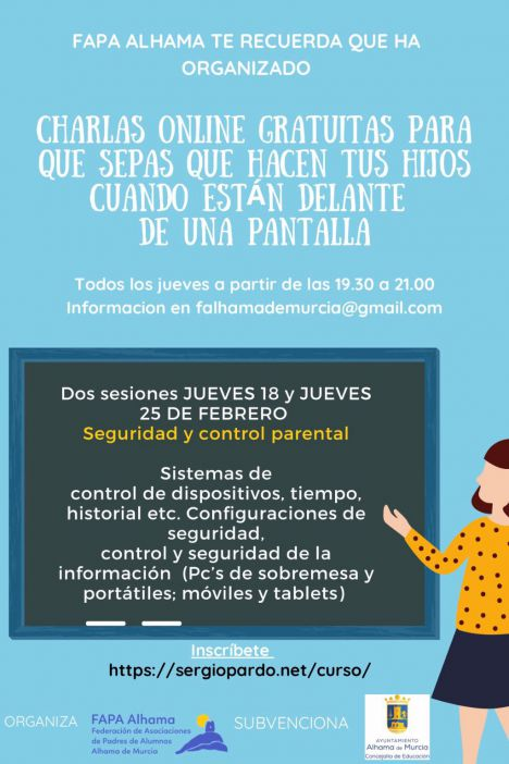Seguridad y control parental, nuevas charlas de la FAPA