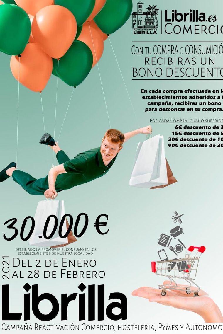 La campaña de bonos descuento de Librilla, hasta el 31 de mayo