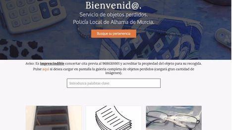 La Policía Local de Alhama crea una web de Objetos Perdidos