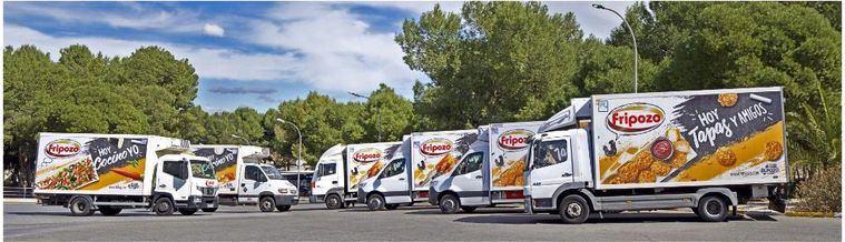 La flota logística de Fripozo recorre 80.000 kilómetros semanales para apoyar al sector de la hostería en España