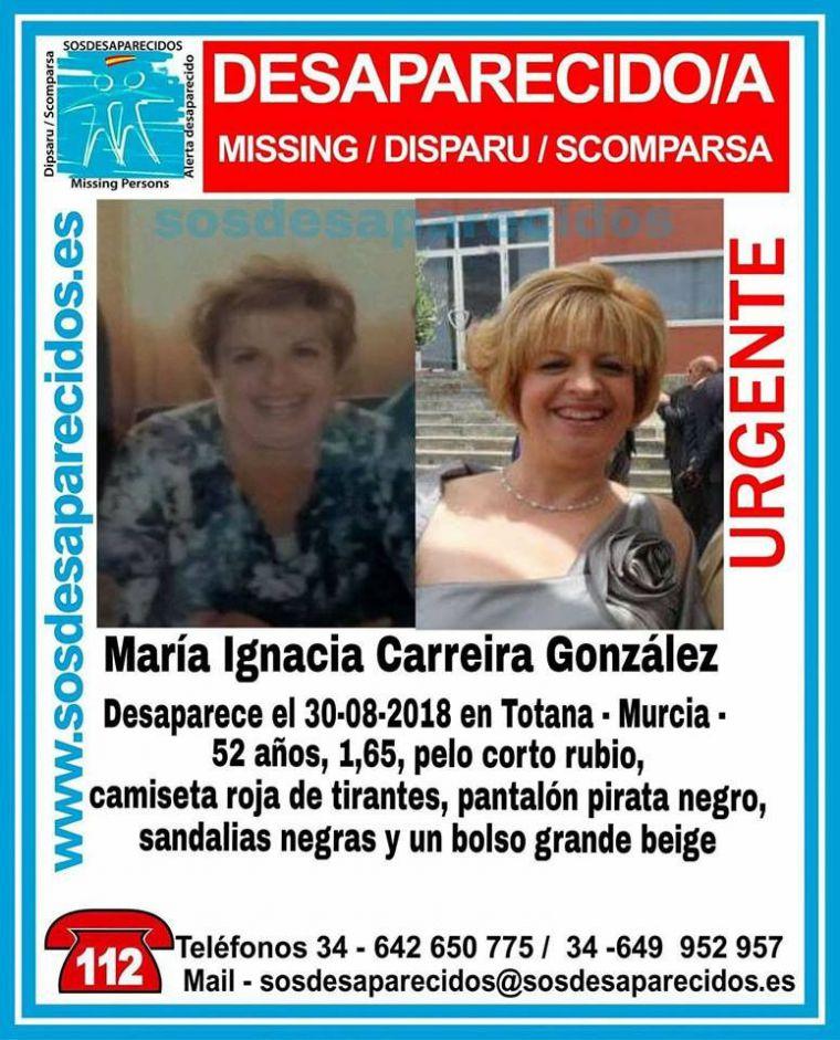 Buscan en Totana a una mujer de 52 años desaparecida el jueves