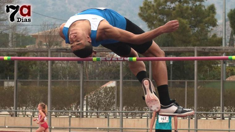 Achraf, en la prueba de salto de altura el 6 de marzo en Alhama de Murcia