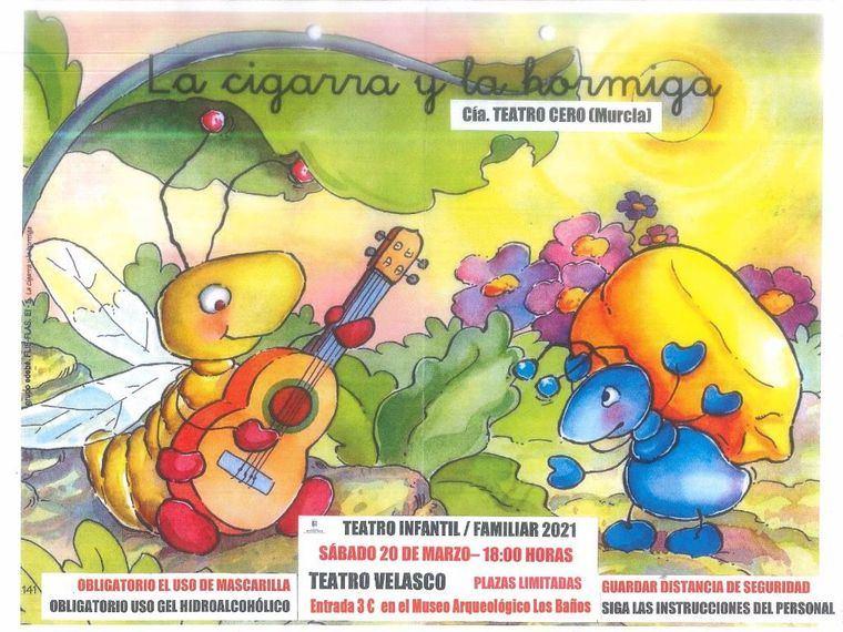 Este sábado el Velasco acoge 'La cigarra y la hormiga'