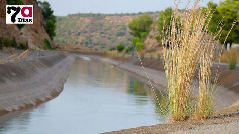 Canal de Trasvase Tajo-Segura a su paso de Alhama