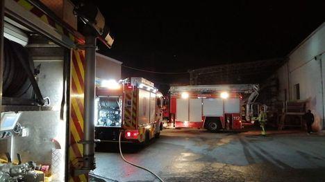 Sofocado un incendio en un secadero de pimentón en Totana