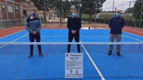 FOT. Librilla reabre la pista de tenis tras su rehabilitación