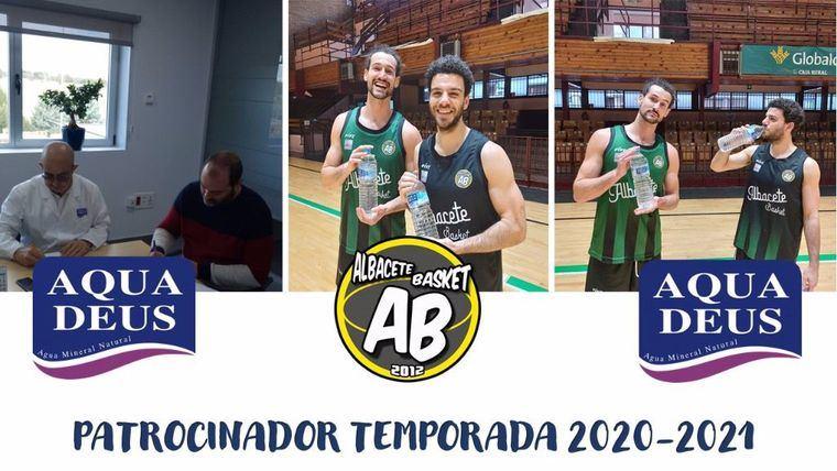 Los jugadores del Albacete Basket, Victor Ruiz de Carranza y Antón Bouzán Cumplido-