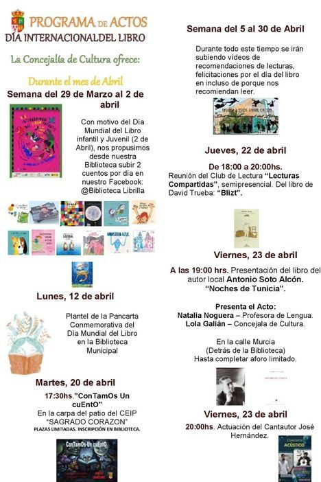 Librilla presenta las actividades por el Día del Libro