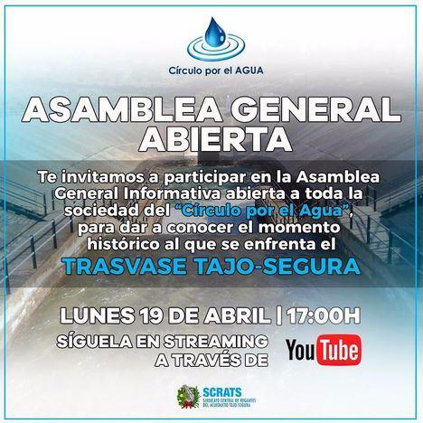 El Círculo por el Agua celebra una asamblea abierta y on-line