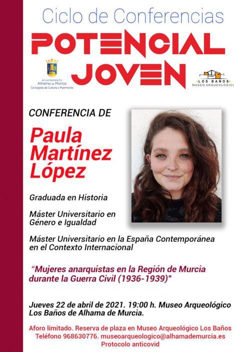 La charla de Paula Martínez se traslada al Teatro Velasco