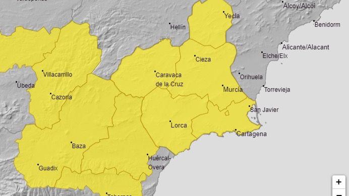 Activan la alerta amarilla por lluvias y tormentas este jueves
