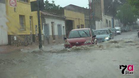 VÍD. Fuerte tormenta en Alhama que deja 12 litros por m2