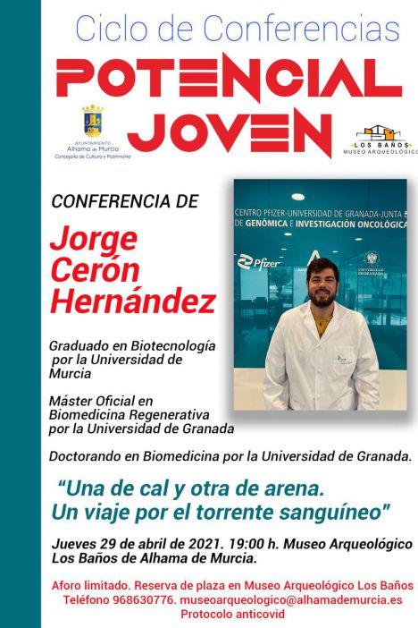 El biotecnólogo Jorge Cerón cierra el ciclo Potencial Joven
