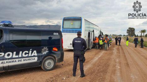 Nueva operación contra el trabajo irregular en el campo en Alhama