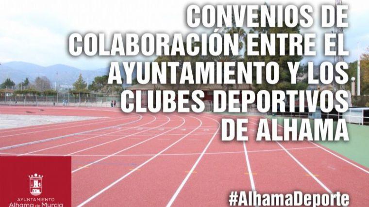 Deportes renueva su convenio con los clubes deportivos de Alhama