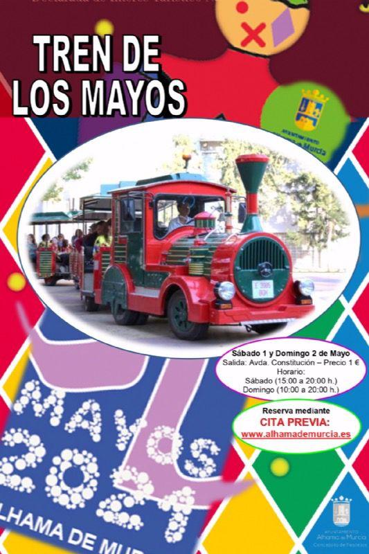 Ya puedes reservar viaje en el tren de Los Mayos