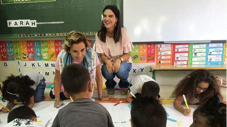 Martínez-Cachá visita el colegio San Cristóbal de Lorca