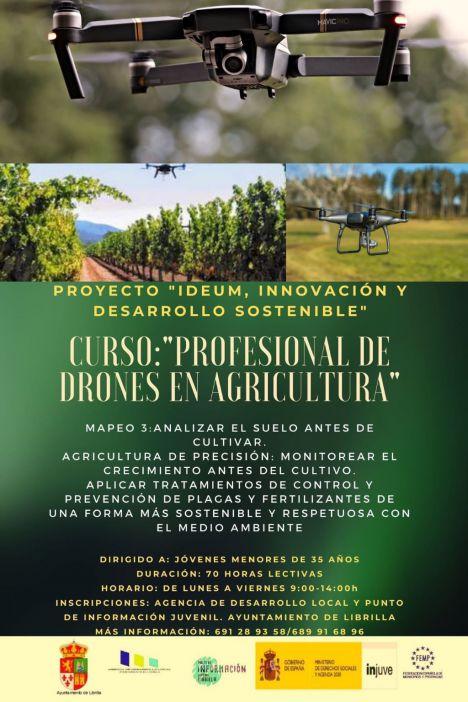 Curso gratuito para pilotar drones en el sector agrícola