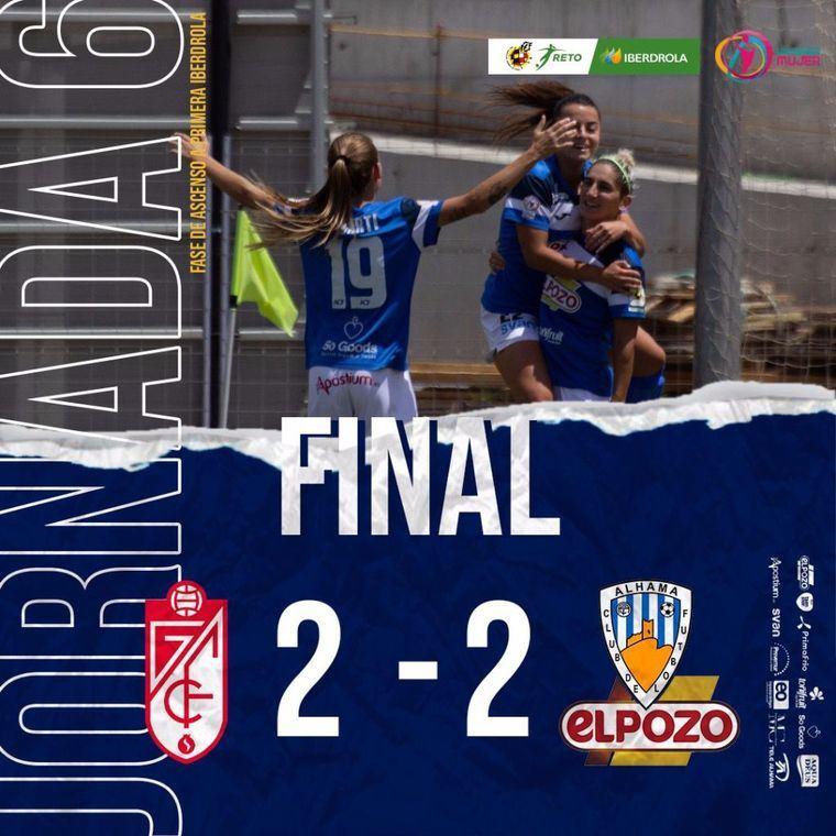 Nuevo empate del Alhama CF ElPozo ante el Granada CF (2-2)