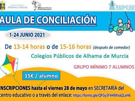 Abierto el plazo de inscripciones para el aula de conciliación de junio
