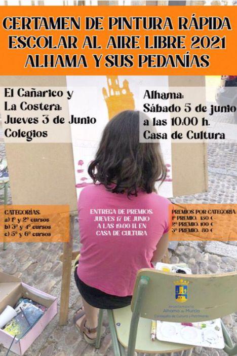 Alhama y sus pedanías, tema para el certamen de pintura escolar
