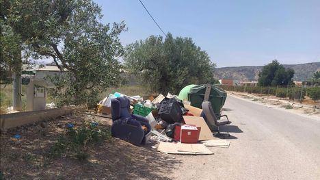 FOTOS Vertido ilegal de enseres domésticos en el camino a las Viñas