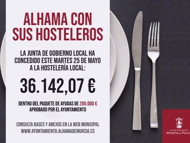 25 hosteleros reciben nuevas ayudas del Ayuntamiento