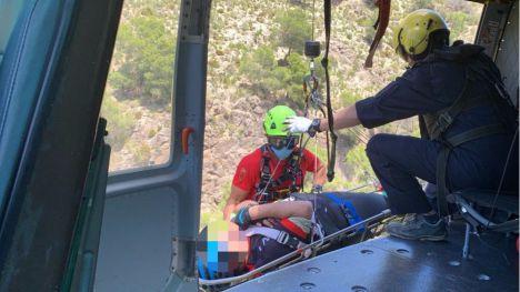 Rescatan a un ciclista accidentado en Sierra Espuña