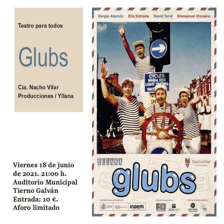 Este viernes no te pierdas la comedia Glubs en el auditorio