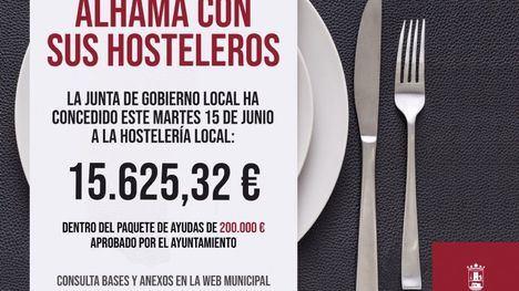 Aprobados otros 15.600 euros en ayudas a la hostelería local