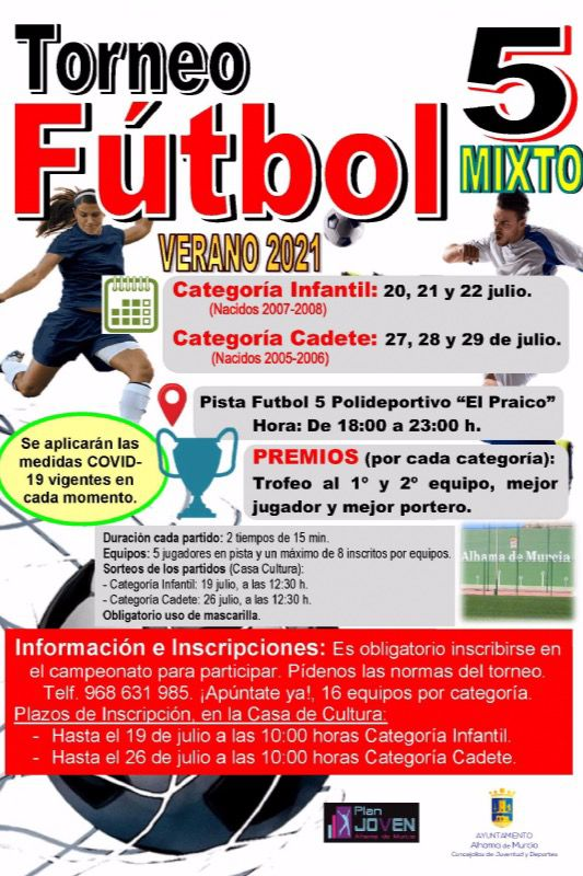 VÍD. Apúntate al Torneo de Fútbol 5 mixto de este verano 2021