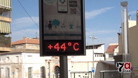 VÍDEO Remite el calor en Alhama en un lunes asfixiante