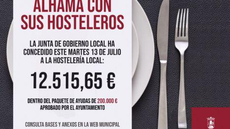 Seis nuevos hosteleros reciben 12.500 euros de ayudas municipales