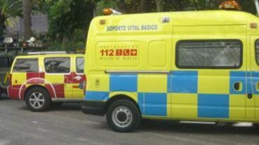 Accidente de tráfico en la carretera entre Totana y Mazarrón