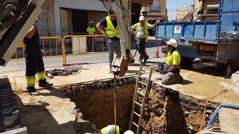 FOTOS Restablecido el suministro de agua potable tras las obras