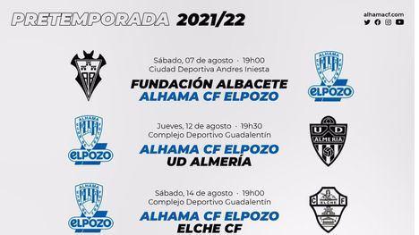 El Alhama CF ElPozo inicia la pretemporada contra el Funda Albacete