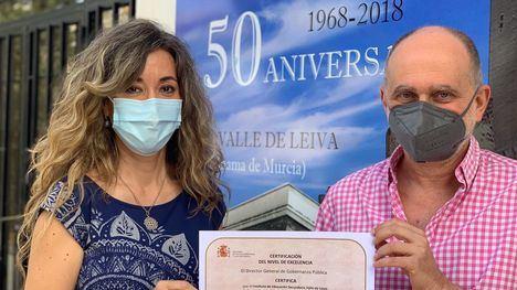El IES Valle de Leiva logra el Certificado CAF+500