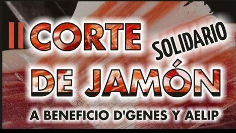 II Corte Solidario de Jamón a beneficio de D'Genes y AELIP