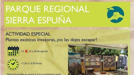Cancelada la actividad sobre plantas exóticas este domingo en Gebas