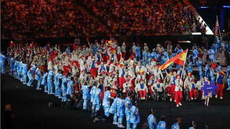 Fotografía de archivo de la inauguración de los Juegos Paralímpicos de Río