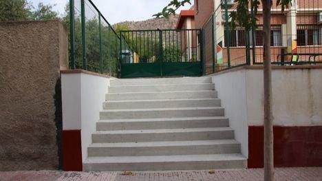 El Concejalía habilita un nuevo acceso en el CEIP Ntra. Sra. del Rosario