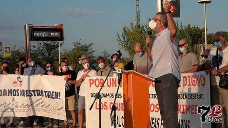 VÍDEO Esperanza en la protesta en Librilla en defensa del tren
