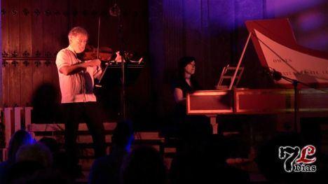 VÍD. Éxito del clave de S. Márquez y el violín de M. Kraemer en Librilla