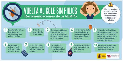 10 consejos para una Vuelta al Cole sin piojos