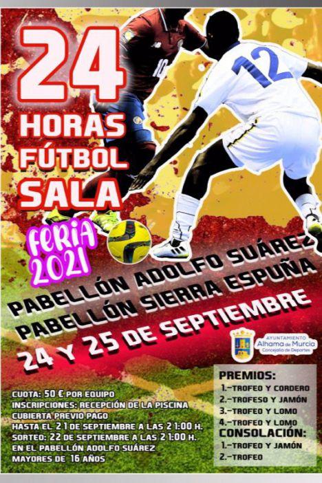 Abiertas las plazas para el 24 Horas de Fútbol Sala Feria de Alhama