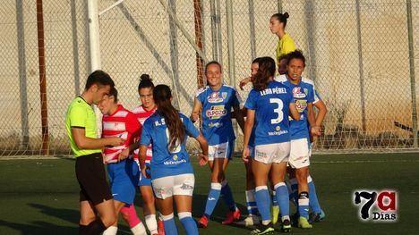 VIDEO/FOTOS El Alhama CF ElPozo, líder tras ganar al Granada (4-0)
