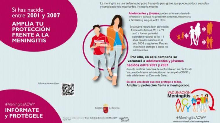El próximo jueves 23 vacunación contra la meningitis en Alhama